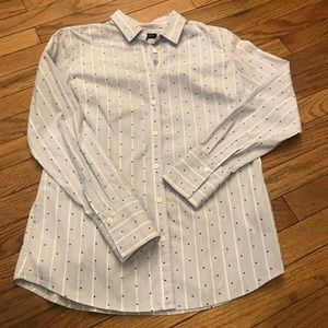Stripes/Dotted Long Sleeve Button Down